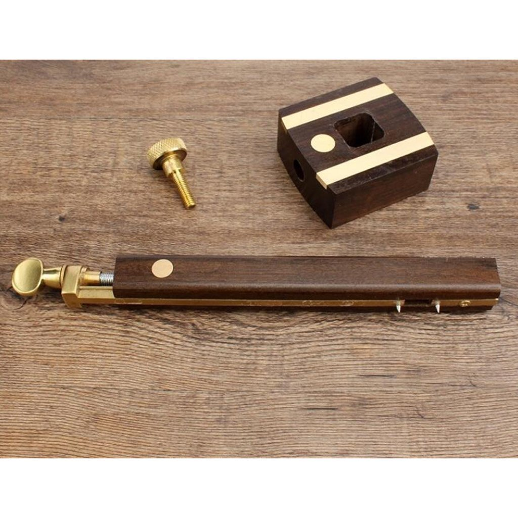Jauge de marquage de bois Trusquin /à mortaise Profondeur Bois Scribe Avec Outil de Mesure de Vis en Laiton
