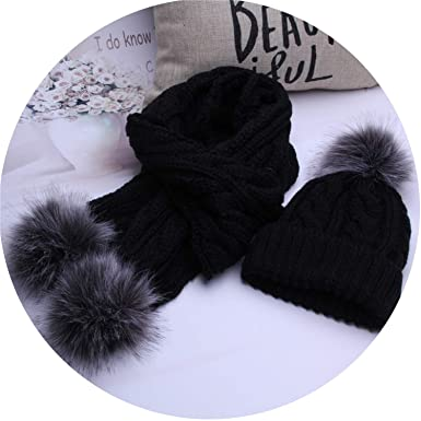 d8bd5928d9b Women knitted Scarf Set Winter Warm Crochet Hats Scarves With Beanie Hat
