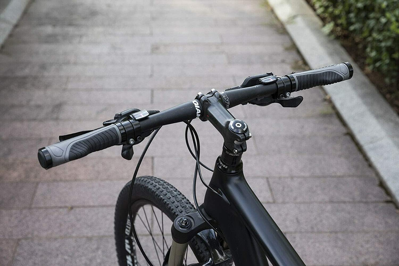 ROCKBROS Bike Grips Bike Handle Grips Double Aluminum Clamp Lock On Grips Bicycle Handlebar Grips for MTB BMX Mountain Bike