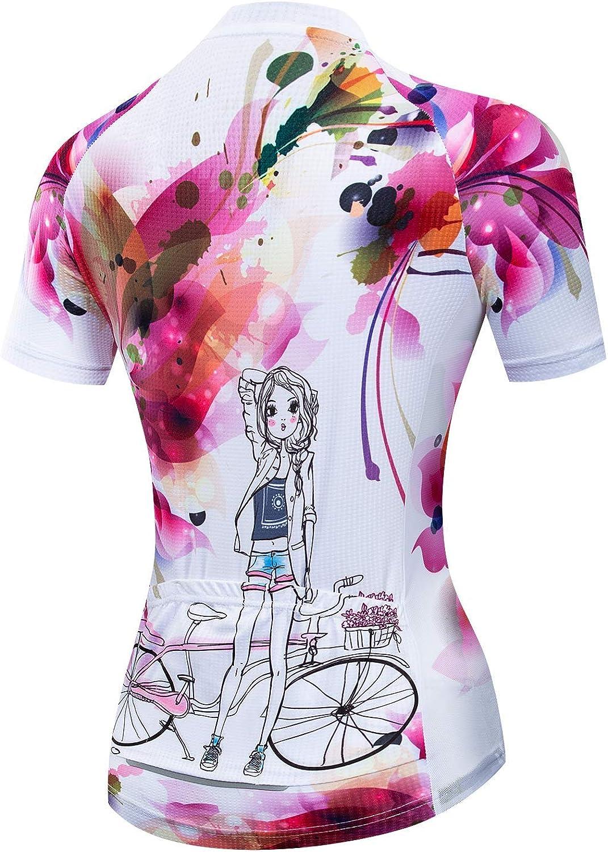 Womens Cycling Jersey Short Sleeved Bike Shirt Mountain Jersey Comfortable Quick Dry Wear Top