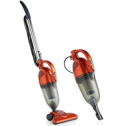 VonHaus 600W 2 in 1 Corded Upright Lightweight Stick Vacuum and Handheld Vacuum Cleaner with HEPA Filtration, Crevice Tool and Brush Accessories