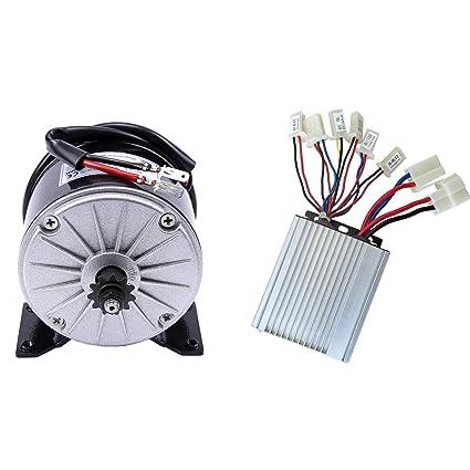 Amazon com: ZXTDR 36v 350w Brushed Speed Motor and Controller Set