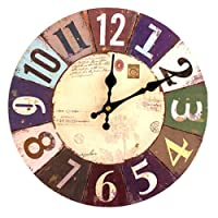 FOKOM 12 Zoll Lautlos Vintage Wanduhr Uhr Wall Clock ohne Tickgeräusche