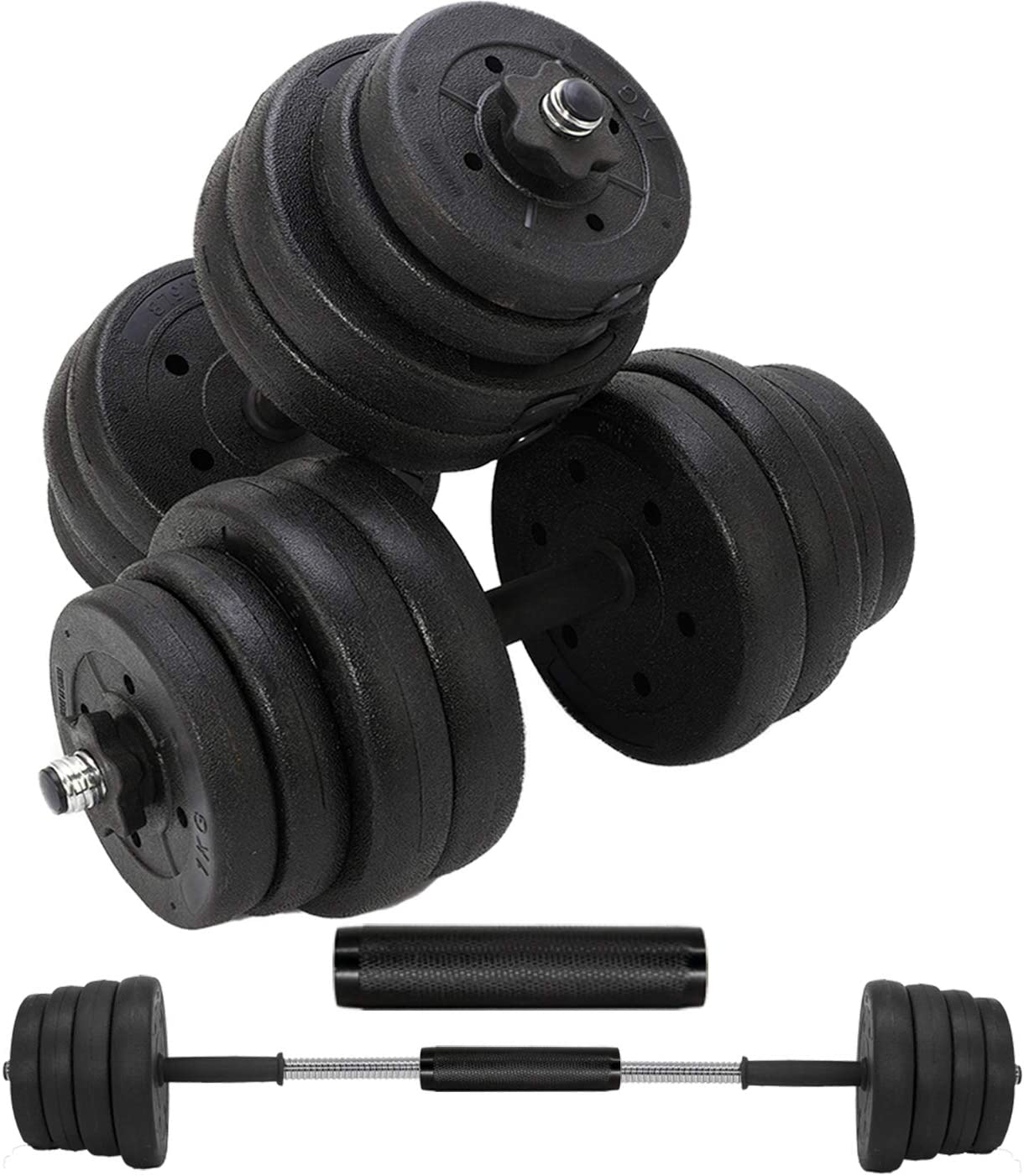 Details about  /GYM Adjustable Dumbbell Set 66 88 110lb Weight Barbell Plates Home Workout