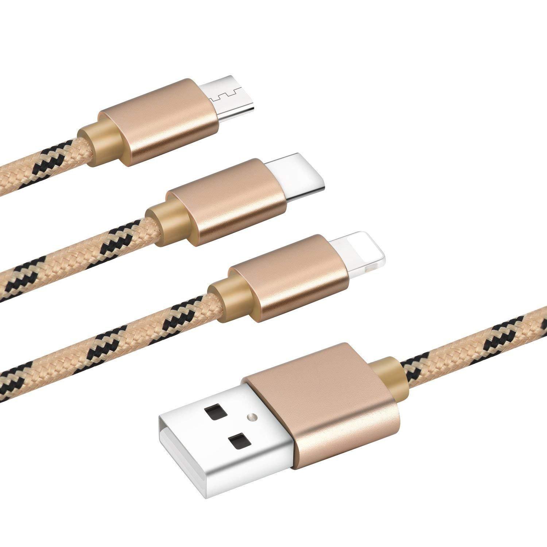 Cable cargador múltiple de la serie M 3 en 1 Conector de ...