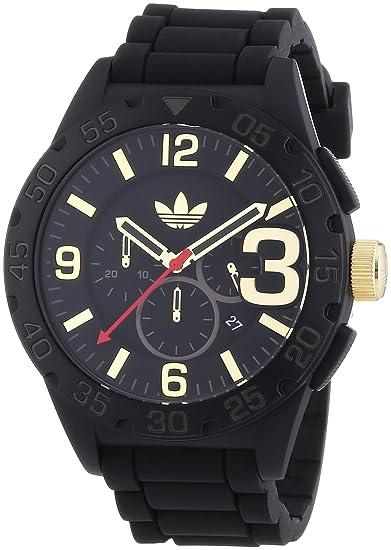 adidas Newburgh - Reloj de cuarzo para hombre, con correa de silicona, color negro: Amazon.es: Relojes
