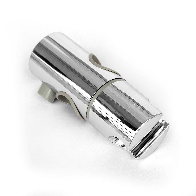 Support réglable de curseur siège de tête rail de douche chromé 18 à 25mm Drable