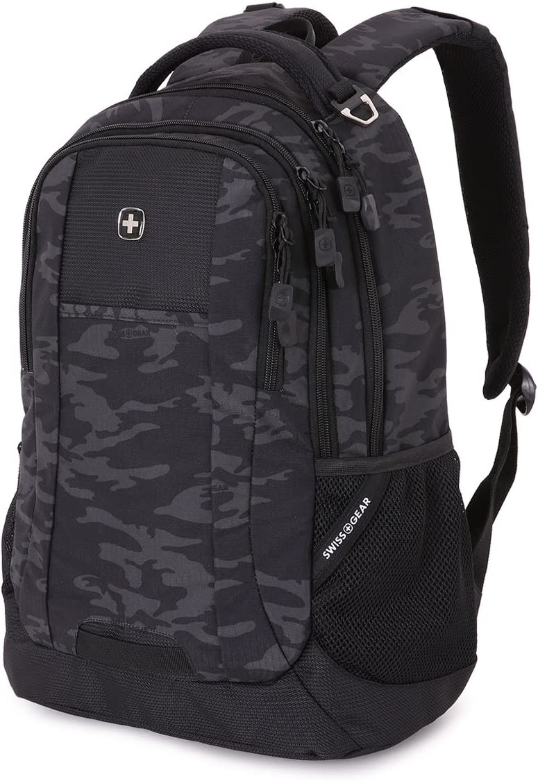 SwissGear Cecil Backpack, Black Cod/Camo, One Size