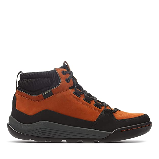 ff8d556bb9c Clarks Ashcombe Ark Gore-Tex Nubuck Boots in Orange  Amazon.co.uk  Shoes    Bags