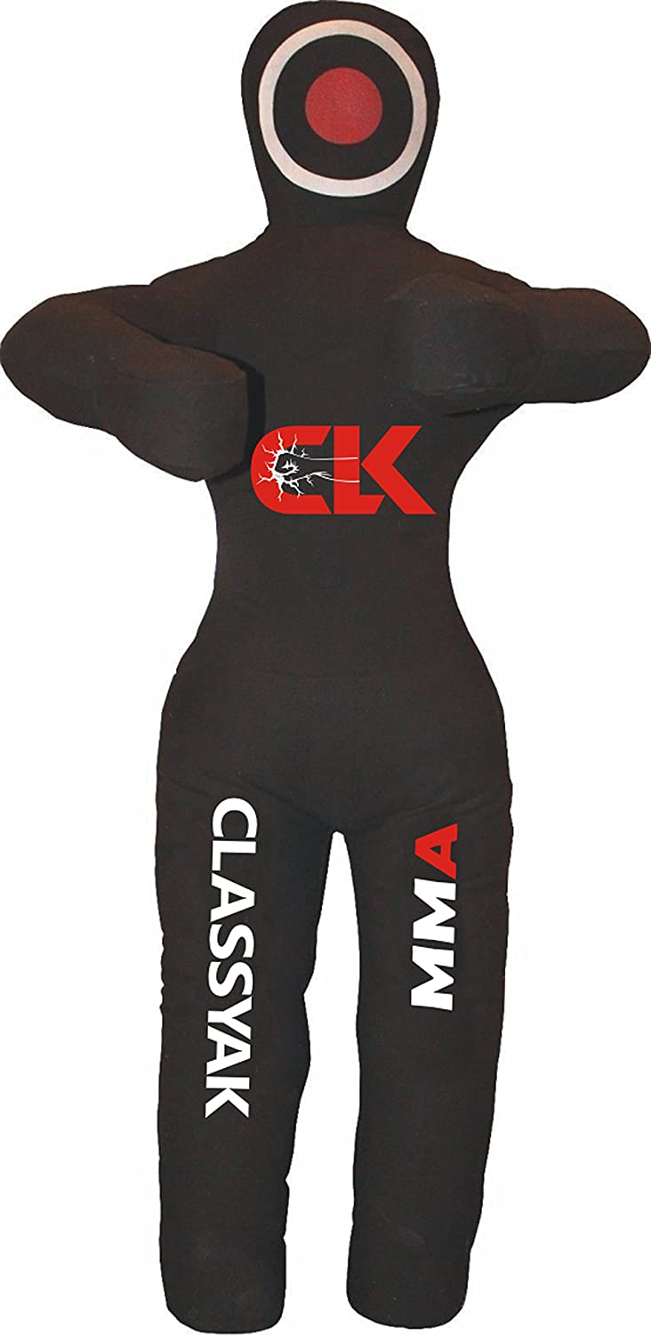 人気 Classyak MMA Standing位置GrapplingダミーJiu Black Jitsu Punching Bag Punching – Unfilled Classyak 59 inches (5 ft) Canvas Black B076VWDZTH, 美原町:51fc0094 --- a0267596.xsph.ru