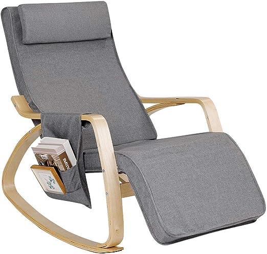 Amazon.com: Giantex - Silla de balancín cómoda, funda de ...