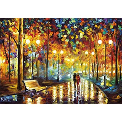 Soffette 5D Diamond Painting by Number Kits Full Drill New DIY Diamond Painting Kit for Adults Cross Stitch Full Toolkit Embroidery Arts Craft Picture Supplies Home Wall Decor - Night View (350): Toys & Games