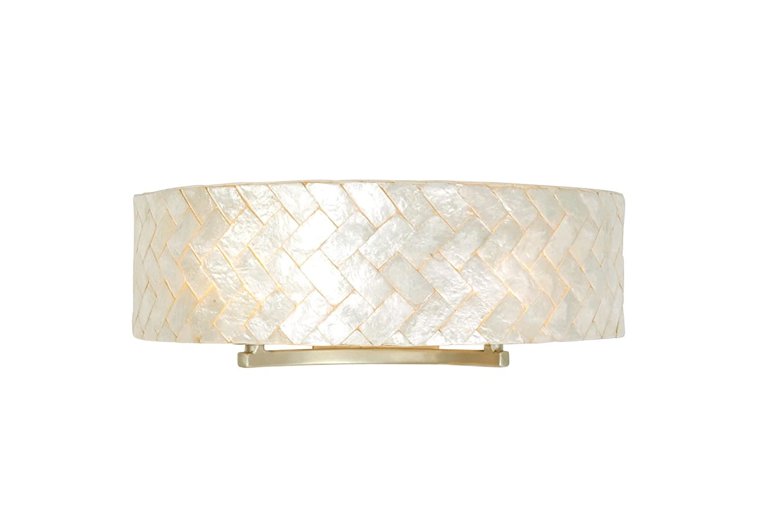 capiz lighting fixtures. contemporary fixtures radius 2light vanity  gold dust finish with sustainable herringbone of  natural capiz shell shade lighting fixtures amazoncom intended