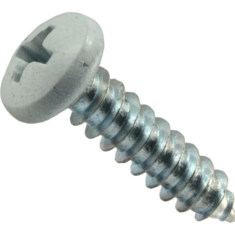 Hard-to-Find Fastener 014973502843 502843 Sheet-Metal-Screws White 30 Piece