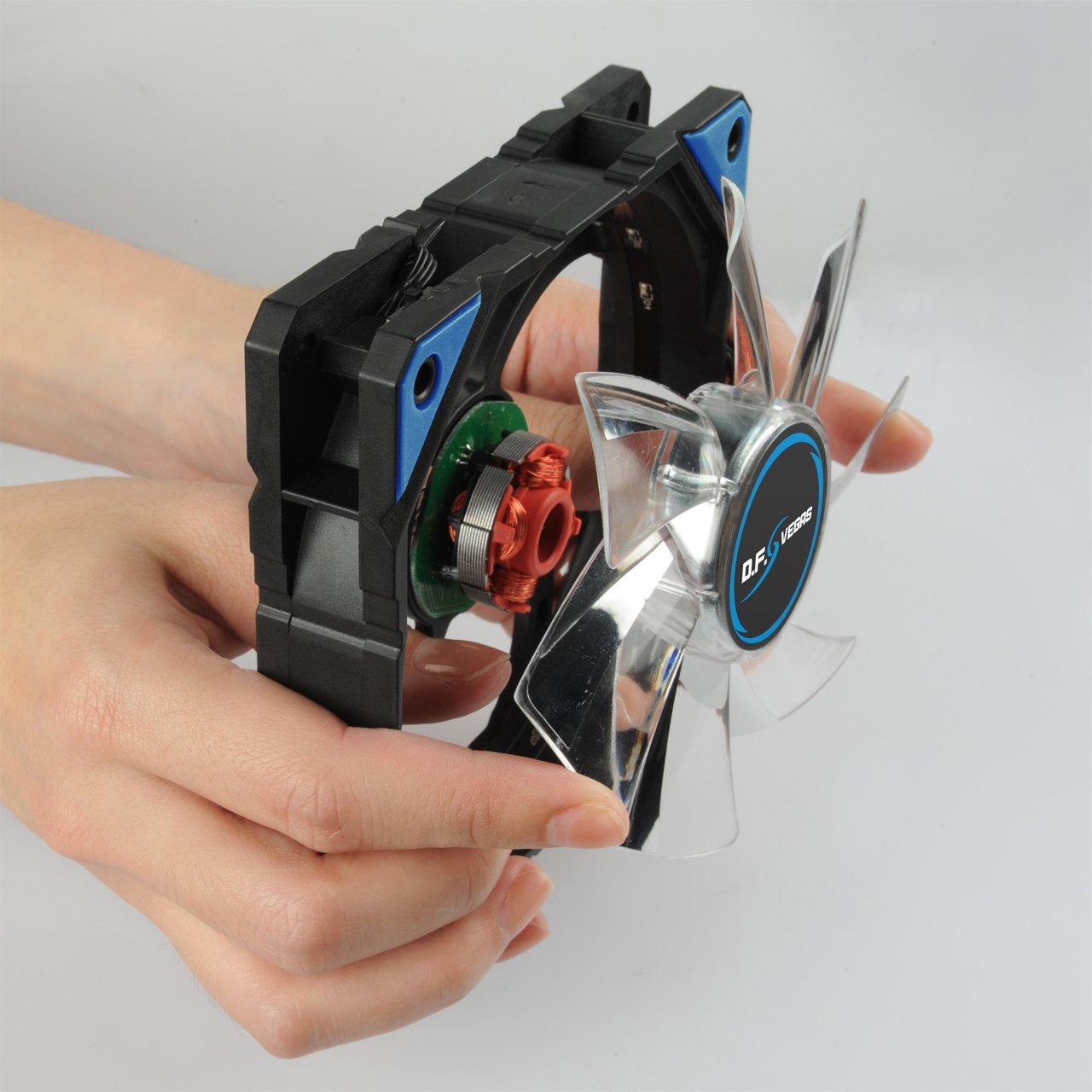 120 mm, LED Enermax T.B.Apollish UCTA12N-BL Color Azul Ventilador