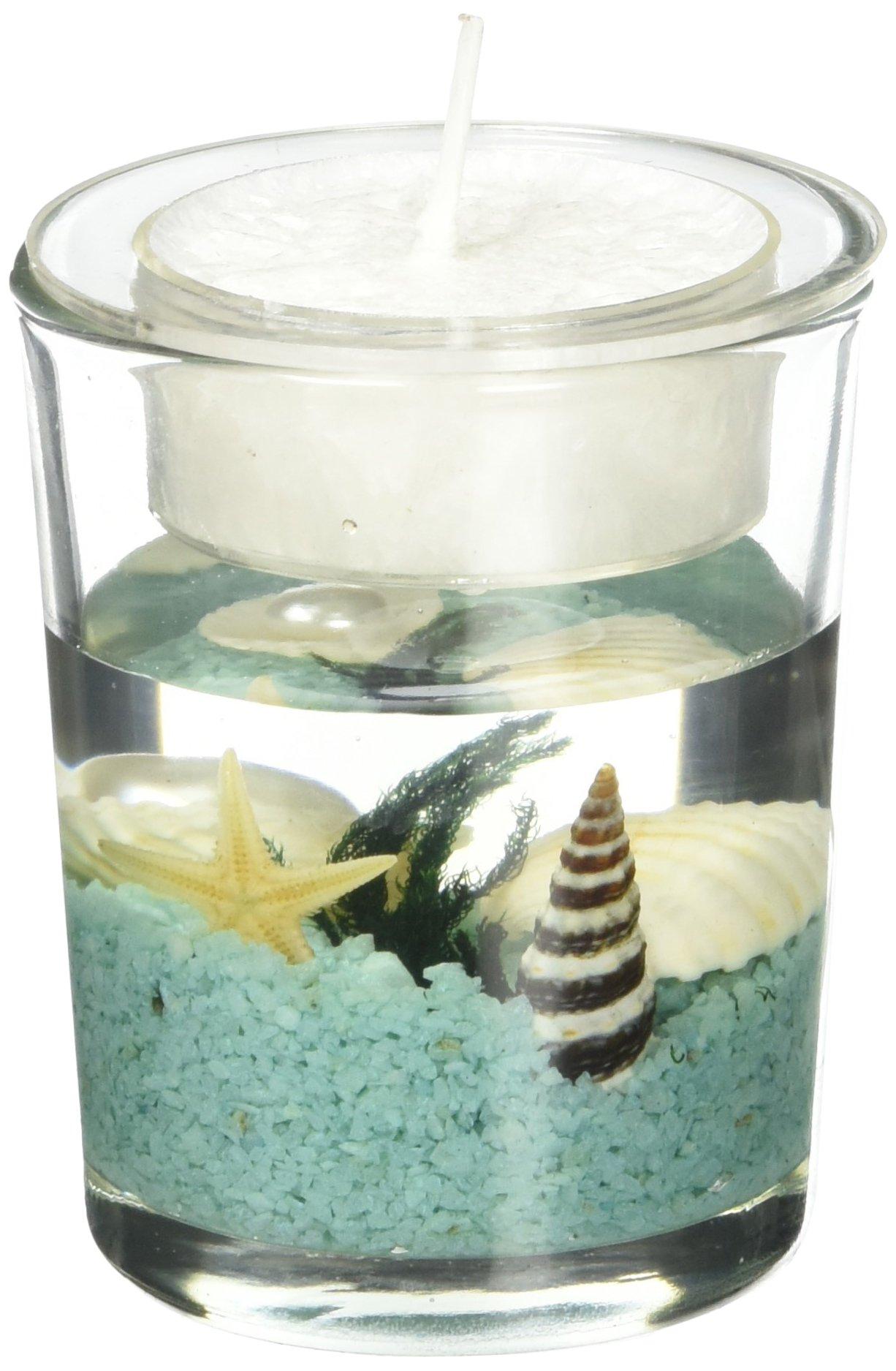 Amazon.com: Seashell Gel Tealight Holder with palm wax ... - photo#8