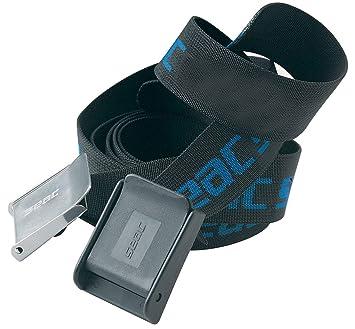 SEAC SUB Bleigurt mit Metallschnalle schwarz//blau