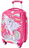 Lttxin Kids' Suitcase 19 inch Polycarbonate Carry On Luggage Lovely Hard Shell(Upgrade Perfect Printing) (Unicorn)