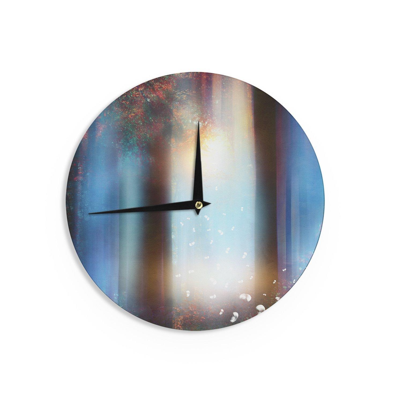 12 Inch Kess Inhouse Viviana Gonzalez Hope In Blue Part Ii Aqua Red Wall Clock
