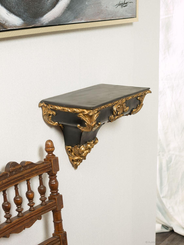 Console Mensola Mensola staffa a parete oro nero impero stile antico