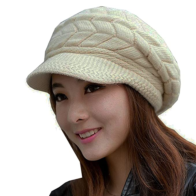 6c033401280 Image Unavailable. Image not available for. Color  MOHSLEE Women s Cable  Knit Visor Hat With Flower Accent ...