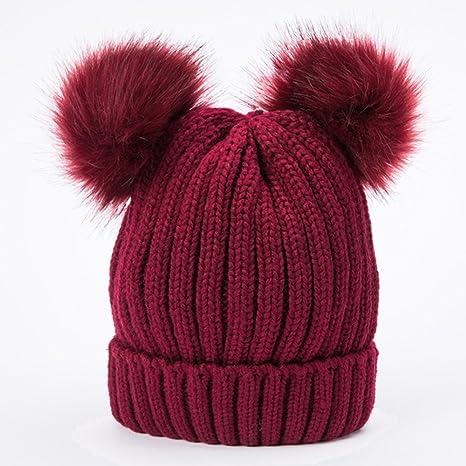 Eizur Cappello inverno per Donna con Pom Pom Caldo Berretto in Maglia  Ragazza Beanie Cappellino Capelli 80856a449213