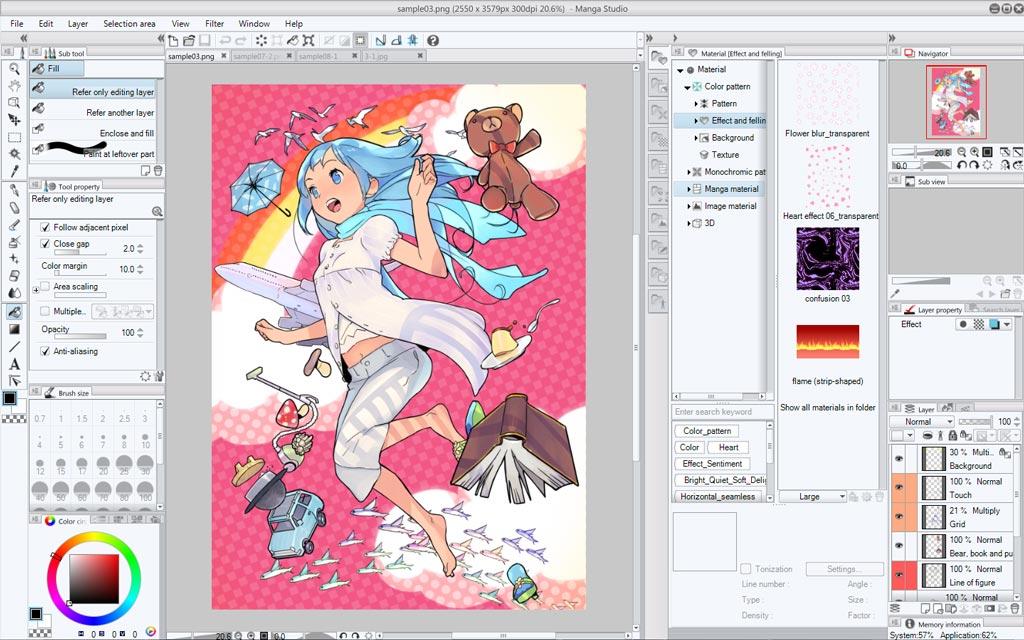 Line Art Converter Software : Amazon.com: manga studio 5: software