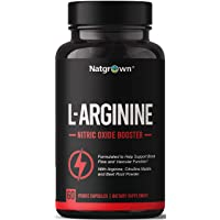 Extra Strength L-Arginine 1500mg Nitric Oxide Supplement - for Muscle Growth Vascularity and Energy - Powerful NO Booster with L Arginine + L Citrulline + AAKG + Beet Root Powder
