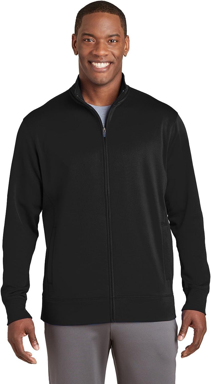 ST241 Black M Sport-Tek Sport-Wick Fleece Full-Zip Jacket