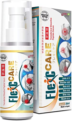 LABO Nutrition FlexC Care Transdermal Bioactive Peptide Serum – Repair & Rebuild, Quick, Long-Lasting Pain Relief for Joints, Muscle, Shoulder, Neck, Back, Arthritis + Anti-inflammatory & Drug-Free