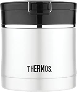 Thermos 10 Ounce Stainless Steel Flip Top Food Jar, Black