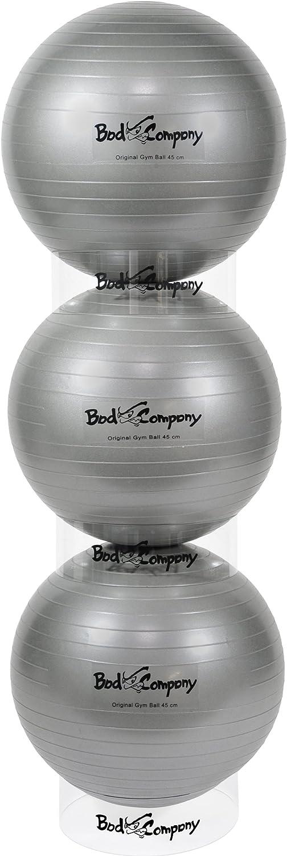 Bad Company Stapler f/ür Gymnastikb/älle ab 45 cm I transparente Stapelhilfe f/ür Fitnessb/älle I einzeln oder als Set