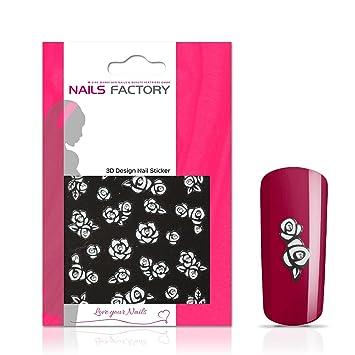 Nail Stickers White Rose Nail Adhesive Stickers Nail Tattoos Nail