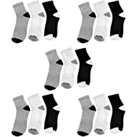 SUPER DEAL BAZZAR STORE Men & Women Ankle Length Cotton Socks - (Pack of 15)(Color - Multi)