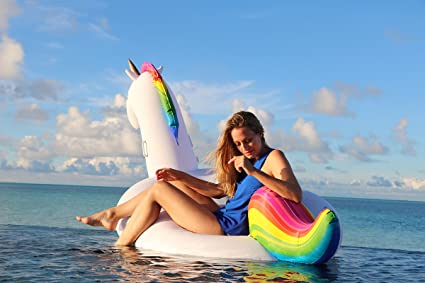 Amazon.com: Unicorn piscina Flotador con bolsa de viaje ...