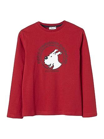241c2dc73188 Cyrillus T-Shirt Tintin® x 14A Rouge/Milou: Amazon.fr: Vêtements et ...