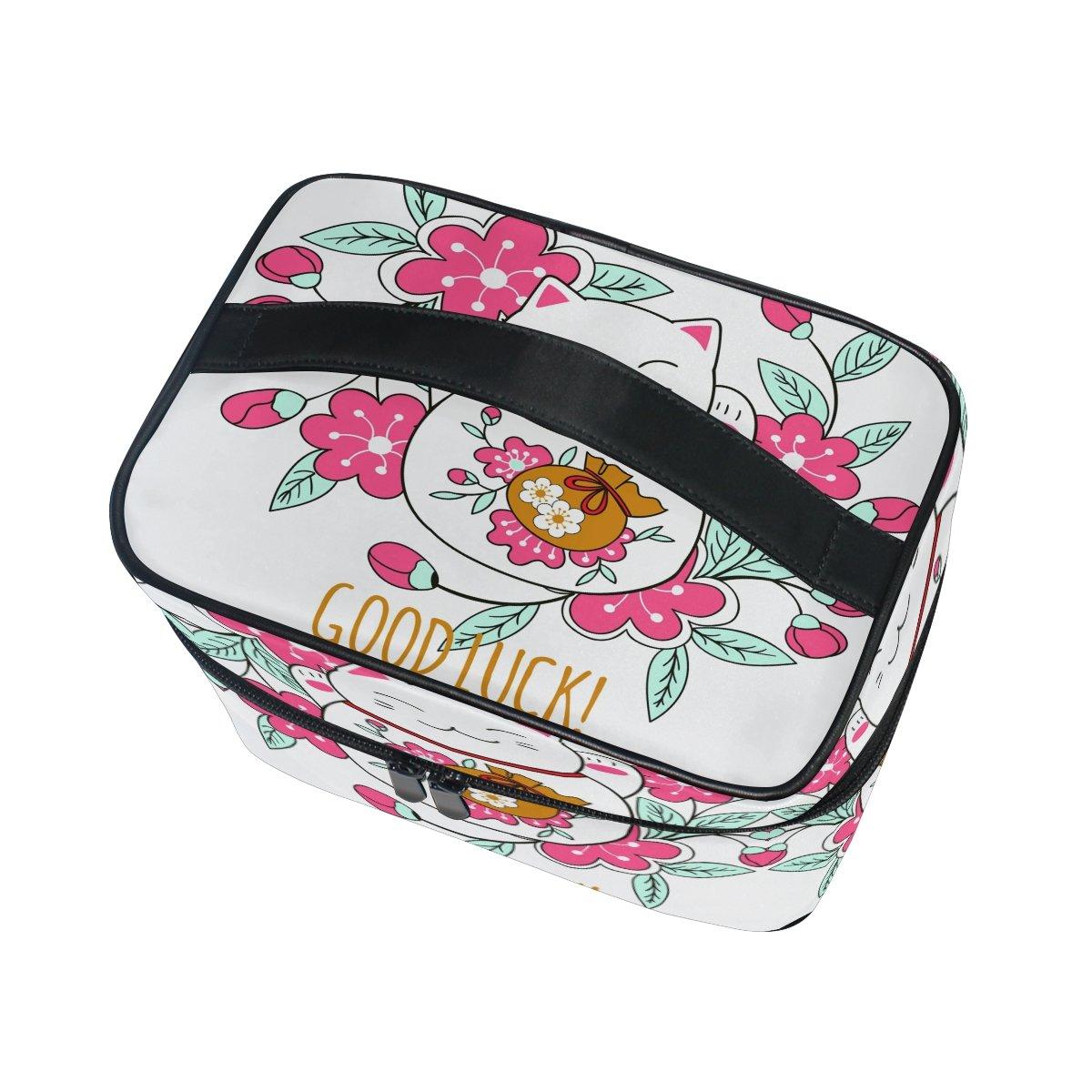 Amazon.com: Maquillaje, Bolsa suerte gato flor de viaje ...