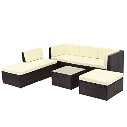 Wicker furniture direct Outdoor Patio Sofa Set Sectional Furniture Rattan Patio  Garden Furniture Set,Brown - Amazon.com : Wicker Furniture Direct Outdoor Patio Sofa Set