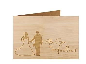 Holzgrußkarte   ALLES GUTE ZUR HOCHZEIT   100% Handmade In Österreich    Postkarte, Glückwunschkarte