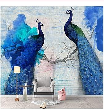Beautiful Peacock Bird Feathers Wall Mural Photo Wallpaper GIANT WALL DECOR