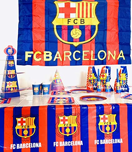 FC Barcelona Birthday Party Decoration Table Cloth