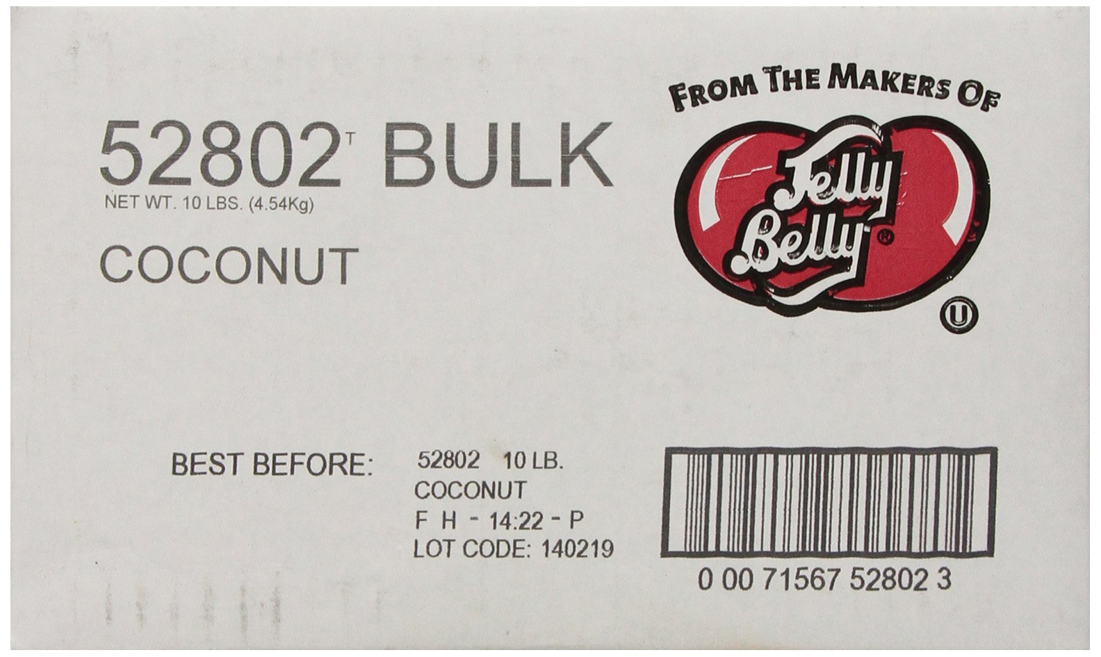 Jelly Belly Coconut Jelly Beans, 10-Pound Box