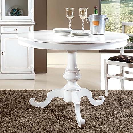 Bagno Italia Tavolo rotondo bianco opaco diametro 100 o 120 cm ...