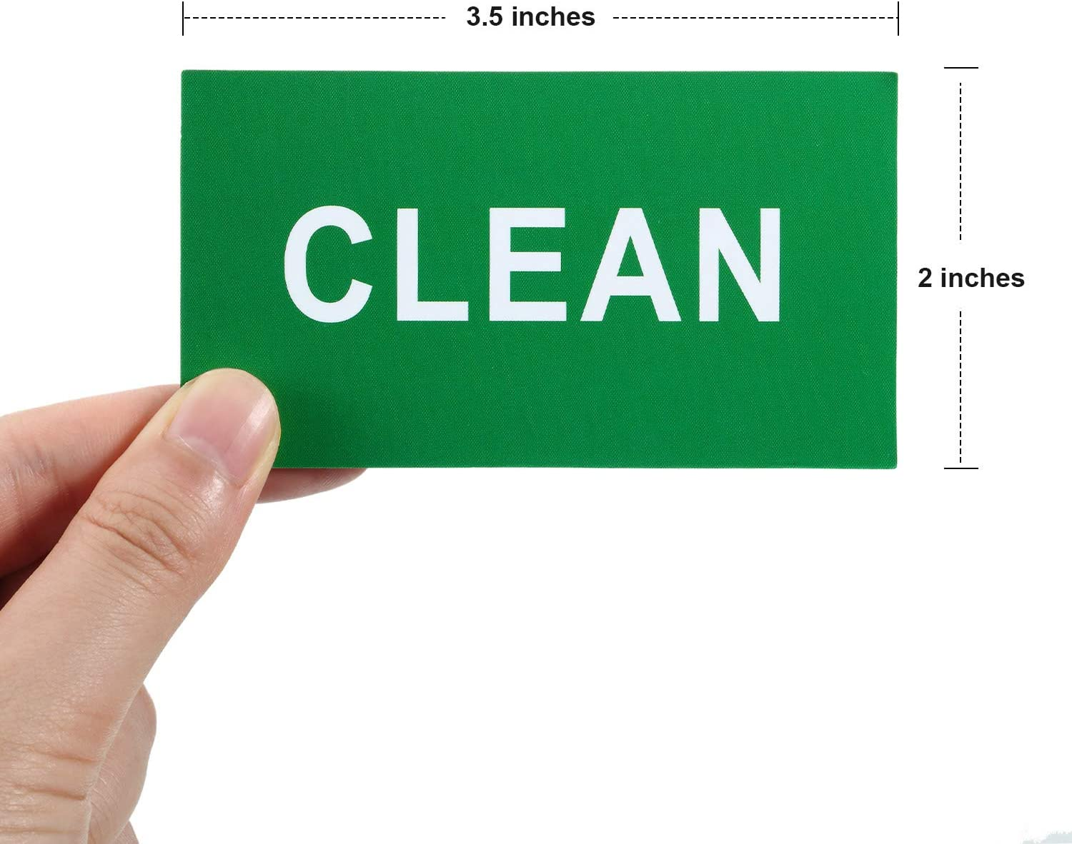 Blulu 4 Pieces Dishwasher Magnet Sign Clean Dirty Sign Double Sided Dishwasher Magnet Sign Indicator for Kitchen Dishes