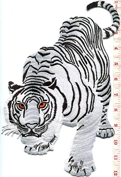 ddaff34d72ea0 Amazon.com: New Bengal White Tiger Tattoo Applique Iron-on Patch Huge XL:  Arts, Crafts & Sewing