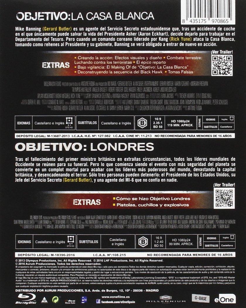 Pack Objetivo La Casa Blanca + Objetivo Londres Blu-Ray Blu ...