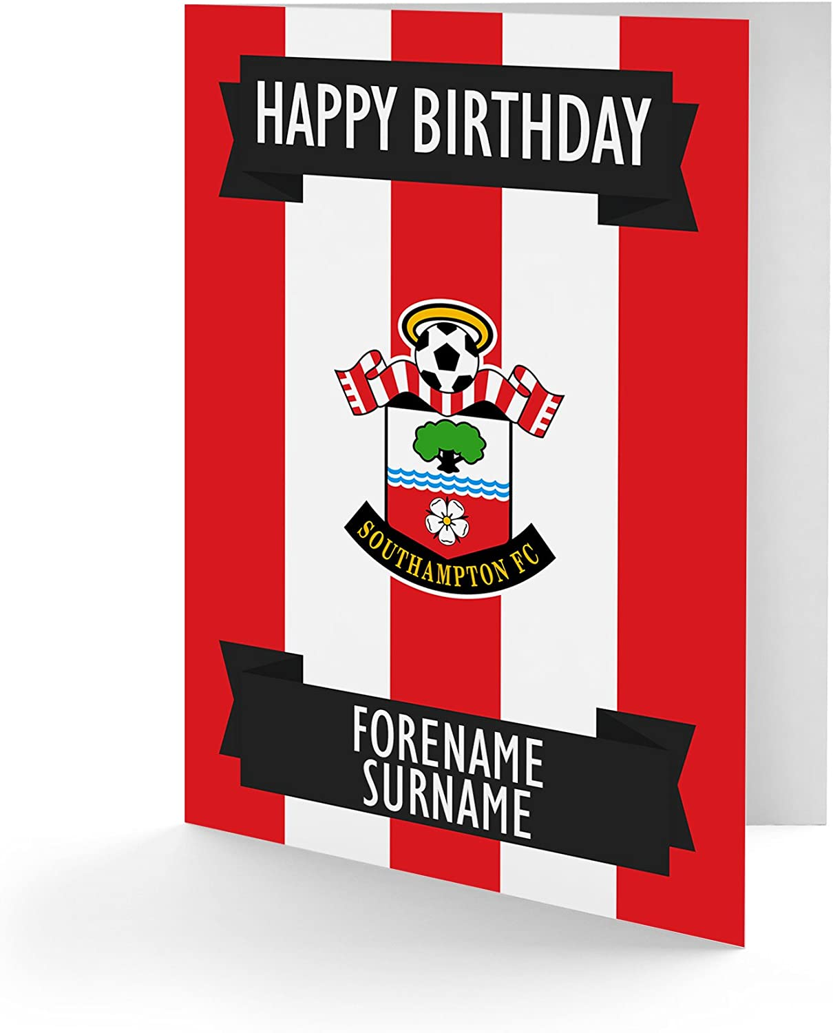 Official Personalised Southampton FC Crest Birthday Card