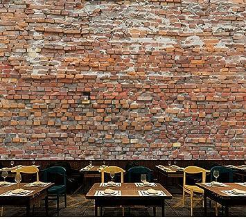 Ladrillos Rojos 3d Murales De Papel Tapiz Para Restaurante Bar
