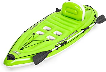BESTWAY 65097 - Kayak Hinchable Hydro-Force Koracle 270x100 cm Individual con Remo y Bomba