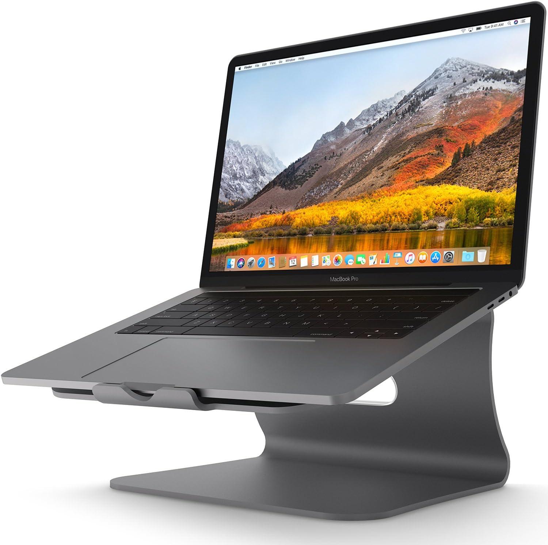 soporte para laptop de aluminio stand gris Bestand
